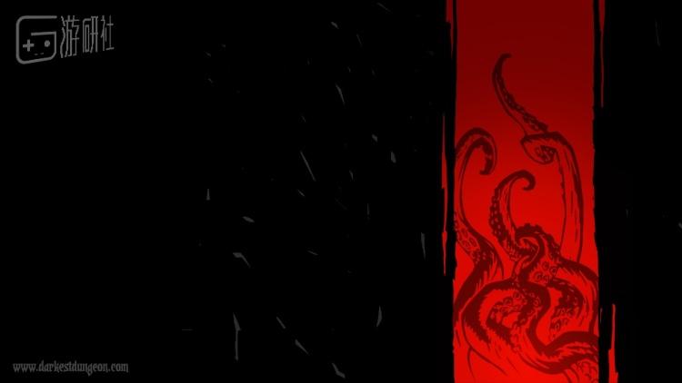 《暗黑地牢》最初在PAX宣传时的一张海报,可以看出受到Lovecraft的影响