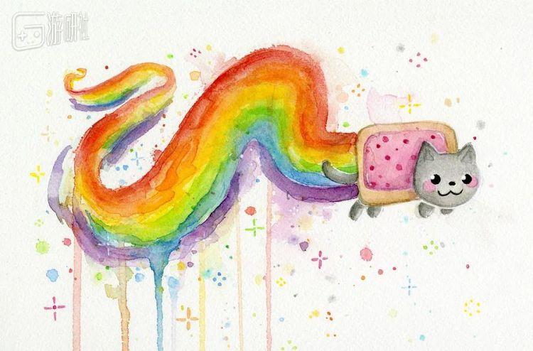 """一张重制版的""""彩虹猫""""动图,在拍卖网站卖出了56万美元"""