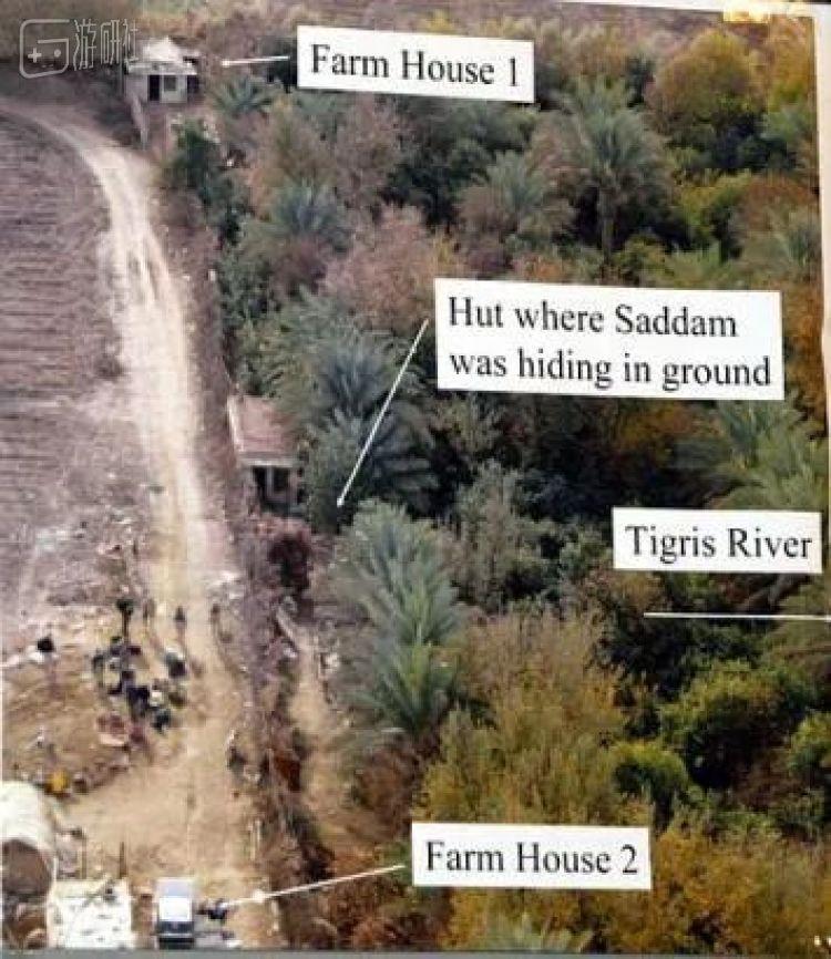 中间房屋为萨达姆藏身处